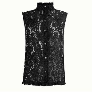 No. 21  Black Macrame-Lace top S